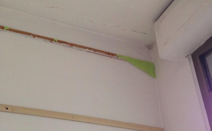 Lavori Scuola San Biagio_crepa soffitto