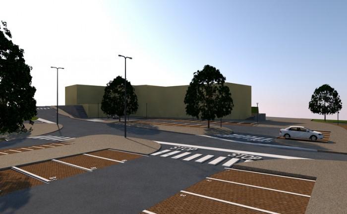 Via Olimpia Incisa_Vista fronte parcheggio e piazzetta