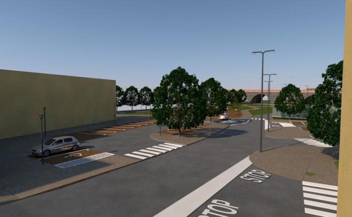 Via Olimpia Incisa_Vista ingresso ai parcheggi