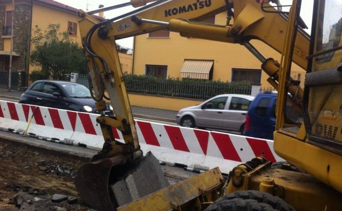 lavori su via Roma (2)