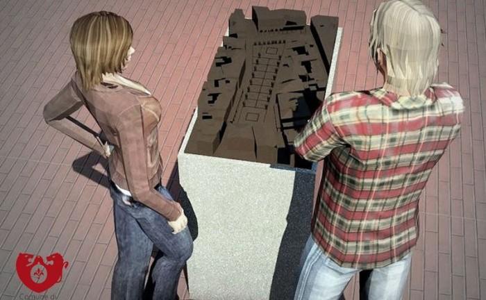 modello tattile centro storico Figline