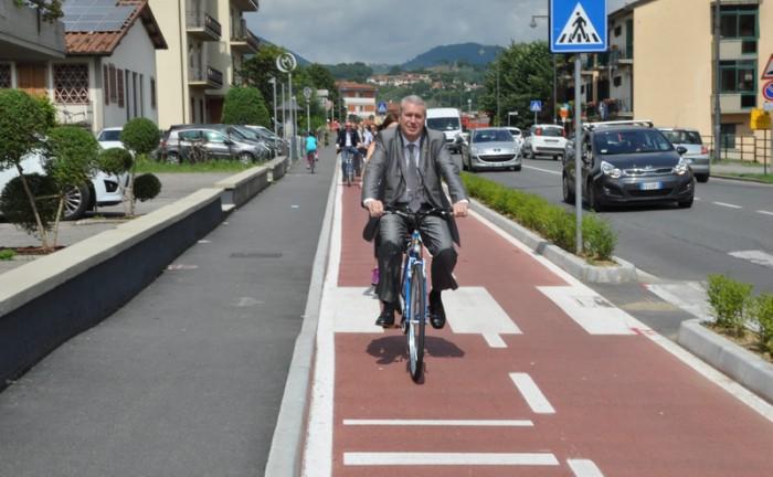 pista ciclabile via Roma_inaugurazione  11.06.2016